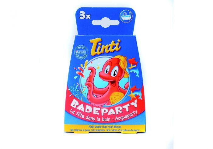 Lot de 3 boules de bain Tinti Zauberbad Rouge//bleu//jaune