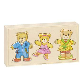 Puzzle famille ours à habiller Goki