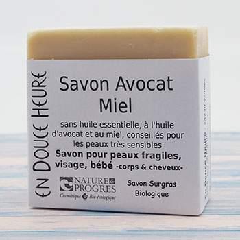 Savon Bio avocat/miel En Douce Heure