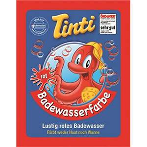 Sachet couleur pour le bain rouge Tinti