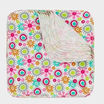 Pack 12 lingettes lavables Imse Vimse - Fleurs