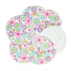 3 paires de coussinets d'allaitement coton bio fleurs Imse Vimse