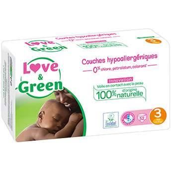 Couches jetables écologiques Love & Green 3 (4-9kg)