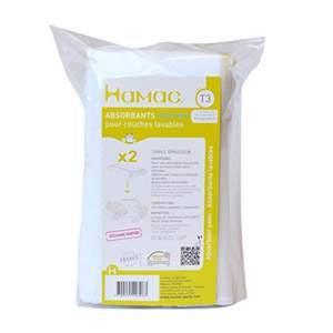 Lot de 2 inserts lavables en microfibre poudré Hamac