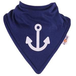 Bavoir bandana Lookidz Ancre fond marine