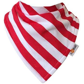 Bavoir bandana Lookidz Rayé blanc/rouge