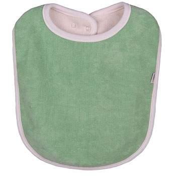 Bavoir coton bio 2ième âge Popolini Vert