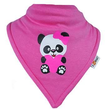 Bavoir bandana Lookidz Panda rose