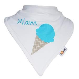 Bavoir bandana Lookidz Ice cream turquoise