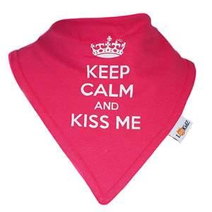 Bavoir bandana Lookidz Keep calm rose