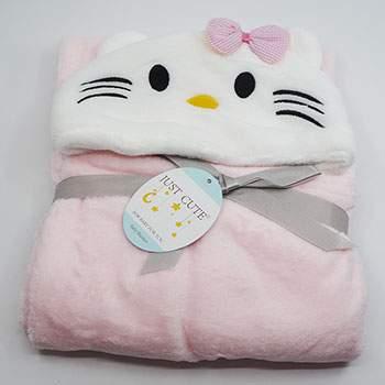 Cape de bain Tissu peluche Kitty
