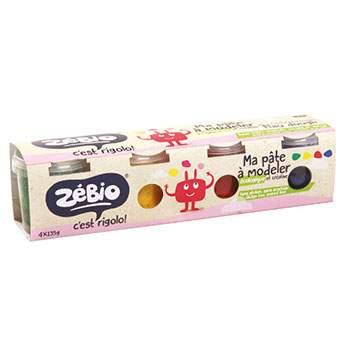 Pâte à modeler écologique 4x120g Zébio