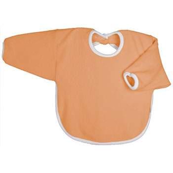 Bavoir coton bio à ML Popolini Orange