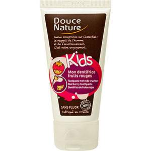 Mon dentifrice fruits rouges sans fluor Douce Nature