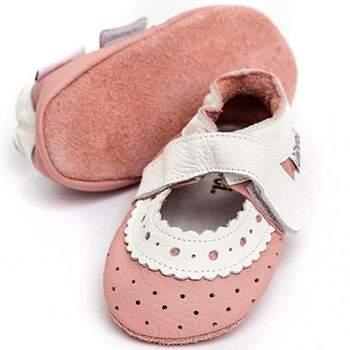 Sandales en cuir souple Liliputi Baby Rose