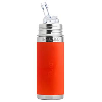 Gourde à paille Inox Isotherme 260ml Pura Orange