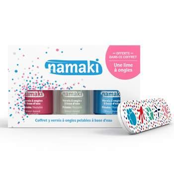Coffret vernis à ongles Namaki Rose, Blanc nacré & Bleu ciel