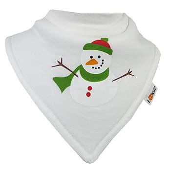 Bavoir bandana Lookidz Bonhomme de neige