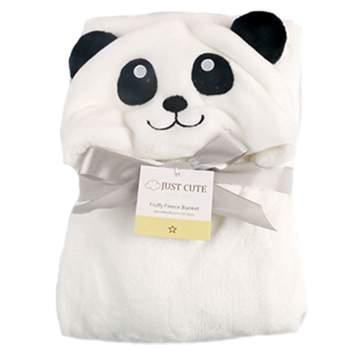 Cape de bain Tissu peluche Panda blanc