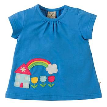 Tee-shirt à MC en coton bio blue house Frugi