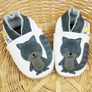 Chaussons en cuir Lookidz Raton gris