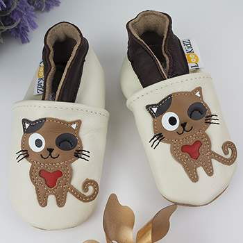Chaussons en cuir Lookidz Chat pirate
