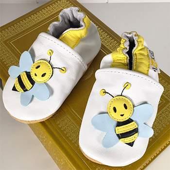Chaussons en cuir Lookidz Bee Happy