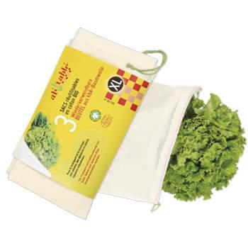 3 sacs réutilisables pour la salade Ah Table !