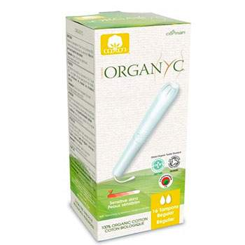 Tampons Régulier avec applicateur Organyc