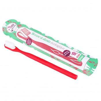 Brosse à dents écologique rechargeable Lamazuna Framboise