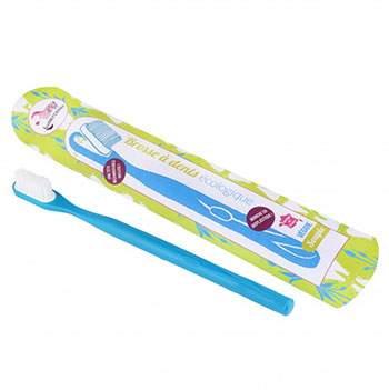Brosse à dents écologique rechargeable Lamazuna Bleu
