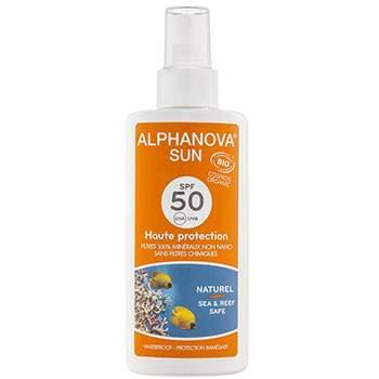 Spray solaire Bio, SPF 50 Alphanova