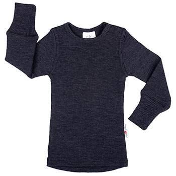 T-Shirt évolutif en laine Manymonths Foggy Black