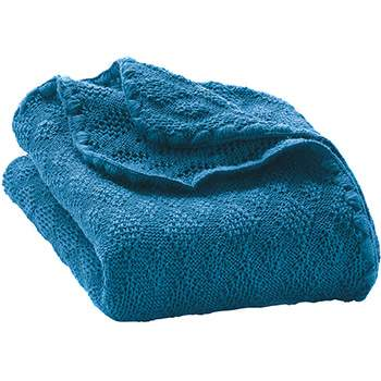 Couverture en laine merinos Disana Turquoise