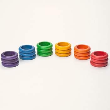 18 anneaux colorés Grapat