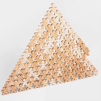 Jeu libre en bois Flockmen Mega Flock - 100 pièces