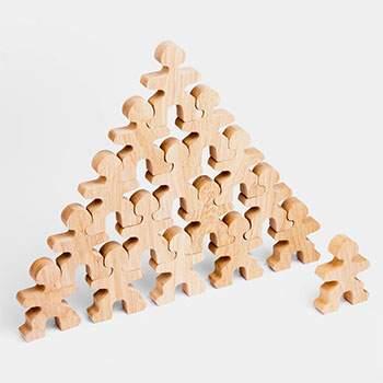 Jeu libre en bois Flockmen Half Flock - 16 pièces