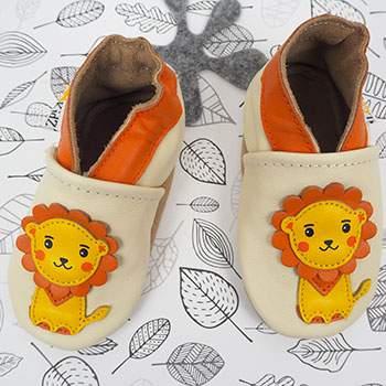 Chaussons en cuir Lookidz Lion