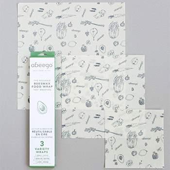 Lot de 3 emballages réutilisables S, M, L Abeego