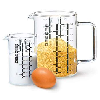 Set de 2 verres mesureurs 1L et 500ml Ah Table