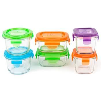 Coffret 6 pots de conservation en verre pour bébé Wean Green