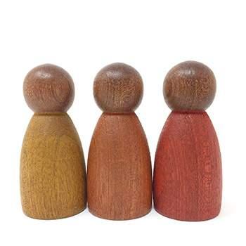 3 Nins couleurs chaudes Grapat