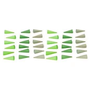 Mandala petits cônes verts Grapat