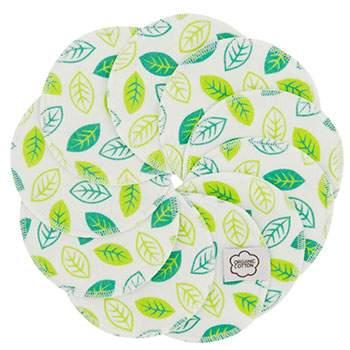 Lingettes démaquillantes lavables Imse Vimse - Green Leaves