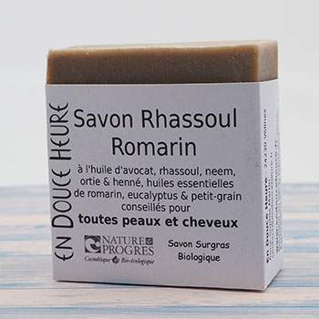 Savon Corps & cheveux Rhassoul, Romarin En Douce Heure