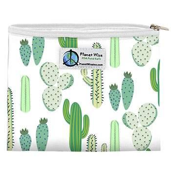 Sac à sandwiches zippé réutilisable Cactus Planet Wise