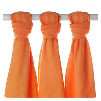 Lot de 3 mini-langes en mousseline de bambou XKKO - Orange