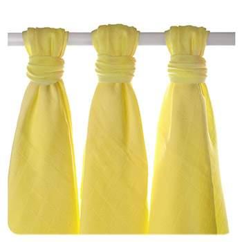 Lot de 3 mini-langes en mousseline de bambou XKKO - Lemon