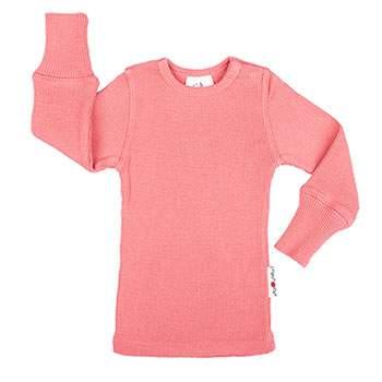 T-Shirt évolutif en laine Manymonths Peach Bud