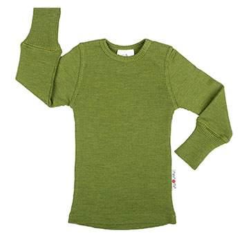 T-Shirt évolutif en laine Manymonths Garden Moss Green